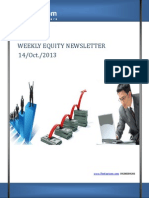 Weekly Equity Newsletter 14-october