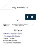 Machining Economics - 1