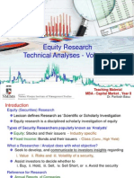 Equity Research - Technical Analysis, Vol. I