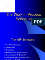 The WIP Schedule