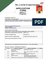 Formulir Astra 1st 2012