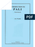 Introduction to Pali_A K Warder