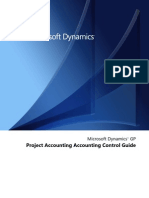Proj Acct Accounting Control