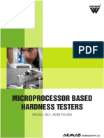 Microprocessor Based Hardness Testers