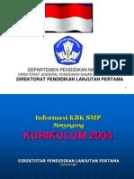 Informasi KBK SMP 2004