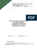 Instructiune de exploatare a intrerupatoarelor USOL