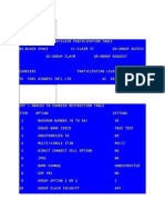 TG FLT Restriction Table