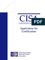 Cisa Application for Certification