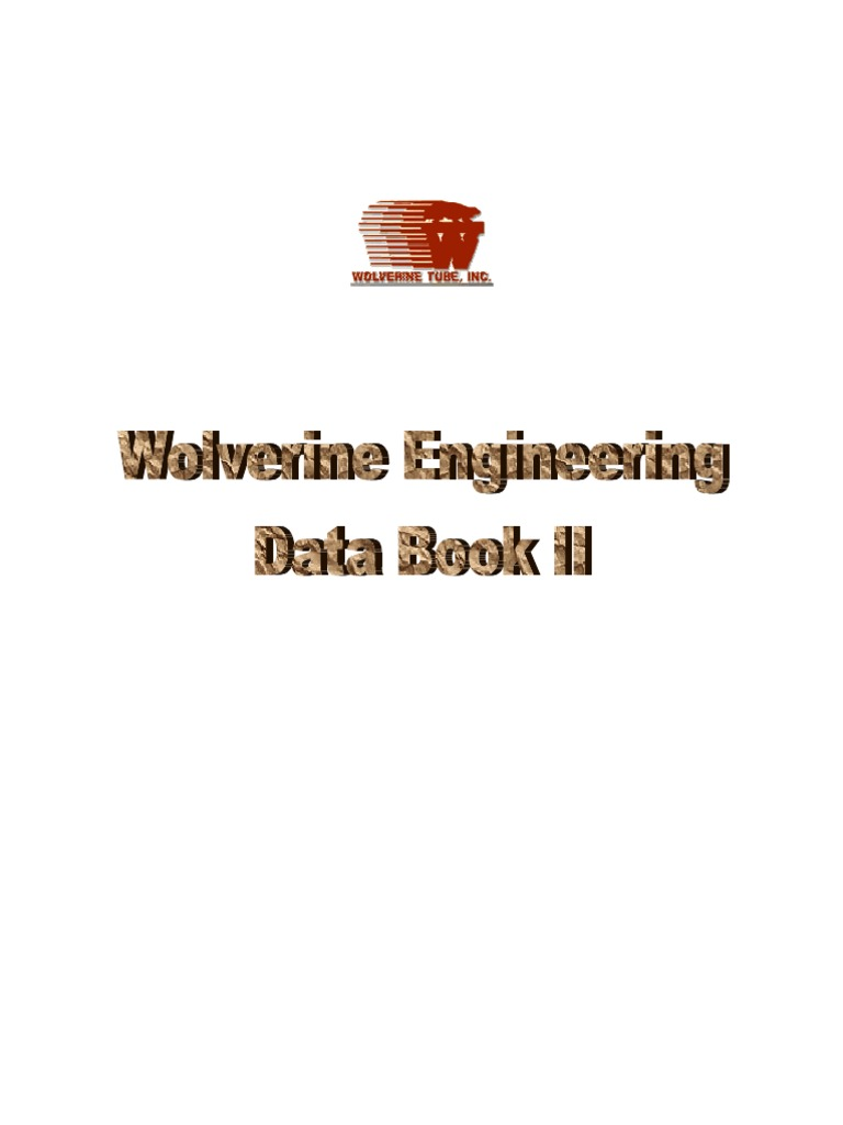 Wolverine Engineering Data Book Iii