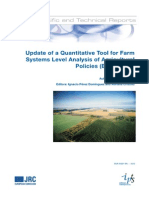 JRC53518Institute for Prospective Technological Studies - Update of a Quantitative Tool for Farm Systems Level Analysis of Agricultural Policies (EU-FARMS)