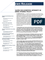 Coalition Advocates for Scientific Integrity In Federal Ethanol Policy (7!21!2009)