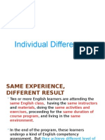 Individual Differences (Applied-Lings-session3)