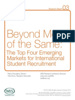 Beyond More of the Same Top Four Emerging Markets International Student Recruitment