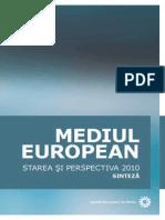 Mediul European – Starea şi Perspectiva 2010