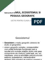 Geosistemul, Ecosistemul Si Peisajul Geografic