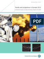 Trends and projections in Europe 2013 – Tracking progress towards Europe's climate and energy targets until 2020. EEA Report No 10/2013. EEA (European Environment Agency). Published
