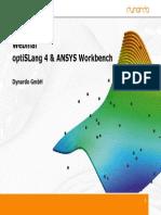 Webinar OptiSLang4 Ansys WB