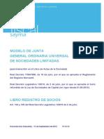 Modelo Junta General s.l.