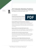 2013 Interactive Marketing