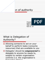 Delegation of authority 1