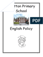English Policy at Shotton Primary School