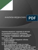 Analiza Medijskih Sadrzaja Predavanje 07.03.2013.