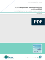 EMEP/EEA air pollutant emission inventory guidebook 2013. Technical report No 12/2013. EEA (European Environment Agency). Published