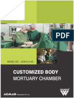 Customized Body Mortuary Chamber