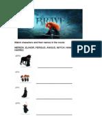 Brave Movie Worksheet
