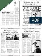 Versión impresa del periódico El mexiquense  14 octubre 2013