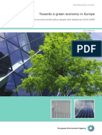 "Towards a green economy in Europe ""- EU environmental policy targets and objectives 2010…-2050. EEA Report No 8/2013. EEA (European Environment Agency). Published"