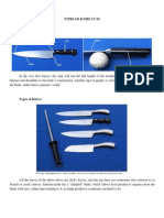Types of Knife Cuts