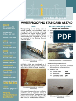 Waterproofing Standard AS3740