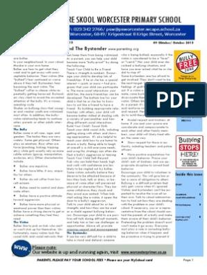 NUUSBRIEF 33 VAN 2013 pdf | Bullying | Friendship