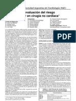 Consenso de Evaluación del Riesgo Cardiovascular en Cirugía no Cardiológica
