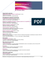Bulletin Officiel 2010