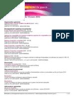 Bulletin Officiel 2010