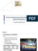 Book Authoring & Reselling With Gwani Software
