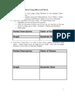 Create Ruleof4 Link Sheet Using MSWord