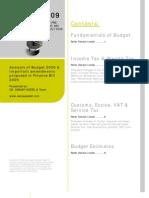 Budget '09 Analysis