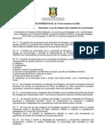 Intrução Normativa SEMA nº 05 de 14 de novembro de 2003