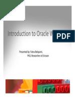 Introduction to Web Logic