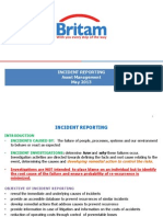 Incident Reporting - Preliminary Guidelines