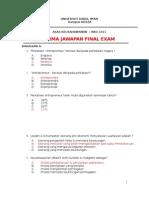 Skima Final asas keusahawanan KKU1011
