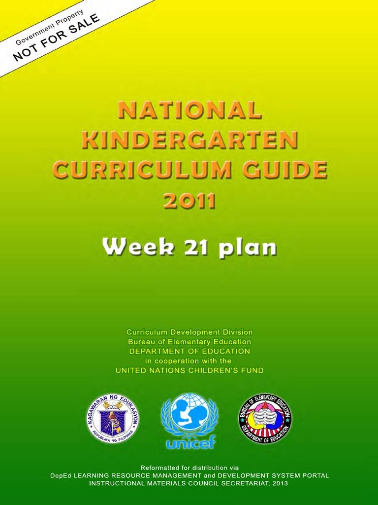 kinder tg week 21 sibling language development rh scribd com national kindergarten curriculum guide week 21-40 national kindergarten curriculum guide 2011