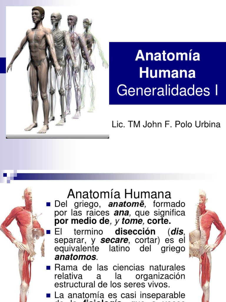 ANATOMÍA HUMANA GENERALIDADES I