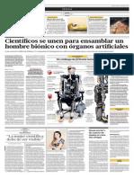 Científicos se unen para ensamblar un hombre biónico con órganos artificiales