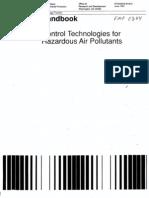 EPA Control Technologies Hazardous Pollutants 1991