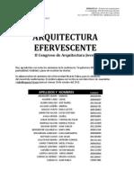 Arquitectura Efervescente - II Congreso de Arquitectura Joven - Lista URP