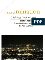 Lecture Notes for Illumination Engineering